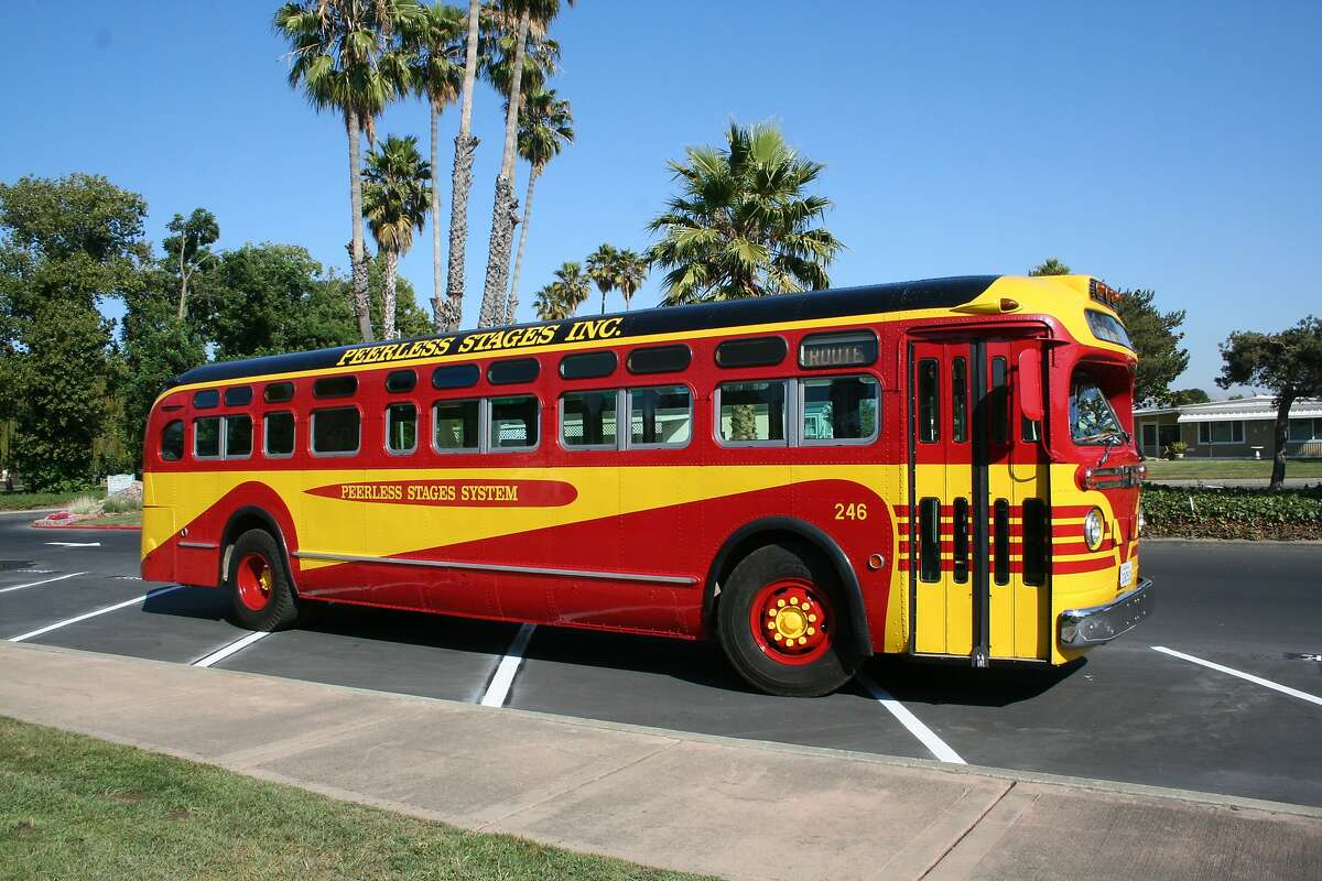 Pictured is one of the buses that constitute the collection of buses on display in the Pacific Bus Museum in Fremont, California. The museum will host its annual open house fund-raising event on Sunday, August 18, 2019.