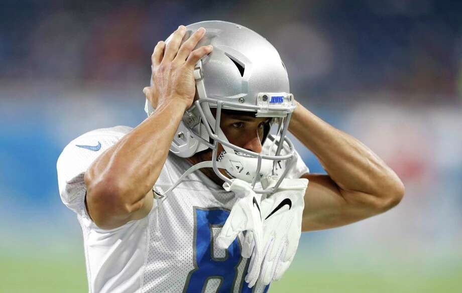 Detroit Lions wide receiver Danny Amendola heads to the sidelines before an open practice at Ford Field, Friday, Aug. 2, 2019, in Detroit. (AP Photo/Carlos Osorio) Photo: Carlos Osorio, STF / Associated Press / Copyright 2019 The Associated Press. All rights reserved.
