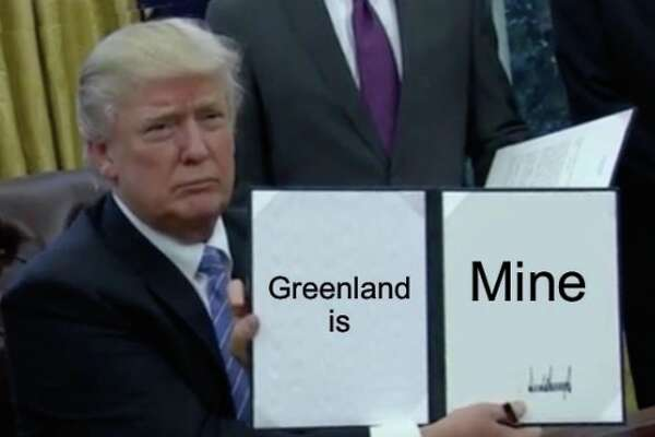 Social media reacts to reports of President Trump wanting to purchase Greenland.