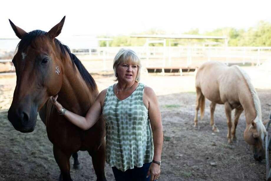 Ganadera Kristie West Photo: Callie Richmond / The Texas Tribune