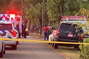 Two children were found dead Thursday in a small pond near Conroe, according to the Montgomery County Police Reporter. A third child was taken to a hospital, authorities say.