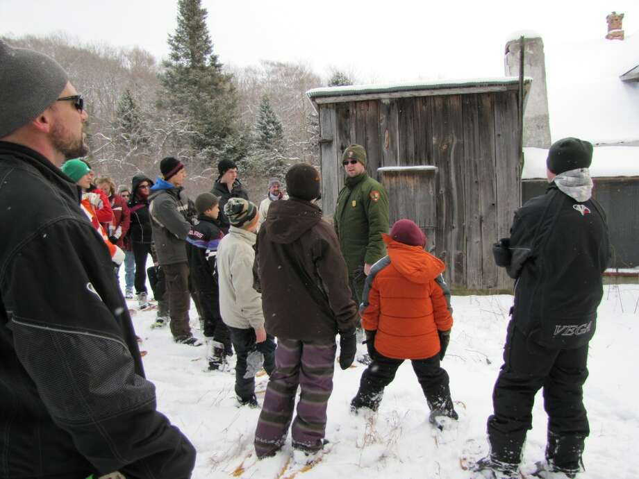 SNOWSHOE ENTHUSISTS: Ranger-led snowshoe hikes in the Sleeping Bear Dunes National Lakeshore have now started, and will be led every Saturday, weather permitting. Visitors to the park in the winter will have the opportunity to see things not normally seen in the summer, such as off-trail areas previously inaccessible, and sings of animal movement.