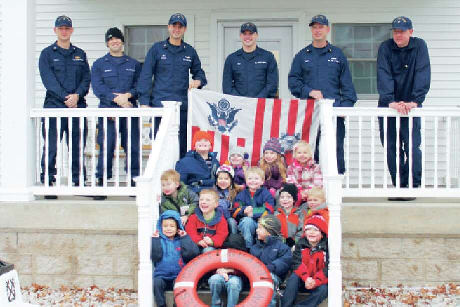 Coast Guard Visit: In November, the Crystal Lake Cooperative Preschool visited the Coast Guard Station in Frankfort MI. The kids toured the Station and 25' Response Boat, learned what the Coast Guard does, and learned the importance of wearing life jackets. (Photo/Bryan Warrick)