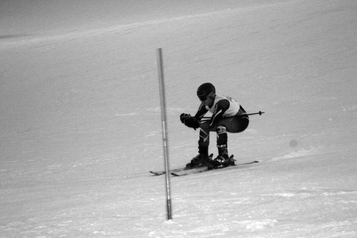 ABOVE Boys BC Ski: Isaac Miller takes the slopes during the contest on January 15. (Photo/Bryan Warrick)