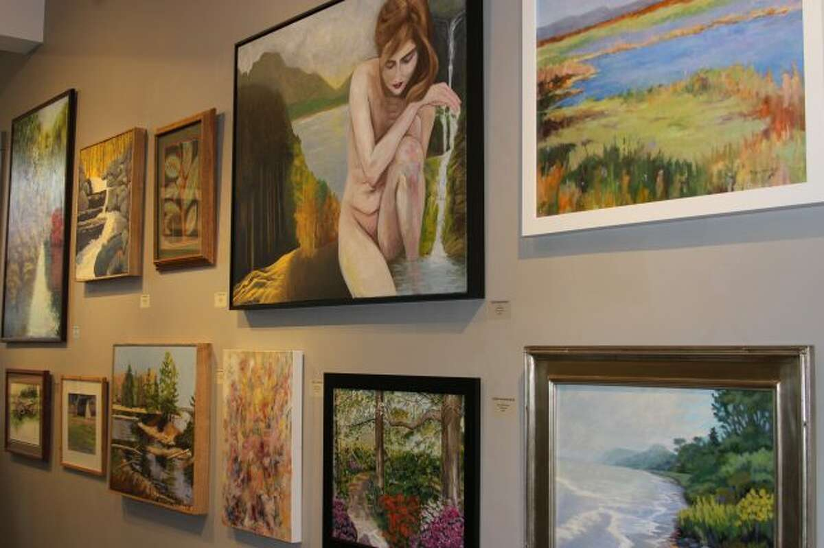 The annual All Media Juried Exhibition at the Elizabeth Lane Oliver Center for the Arts had 160 works on display. (Photo/Colin Merry)