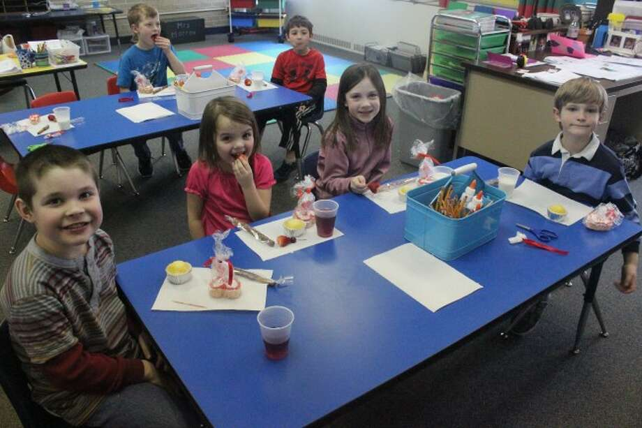 FIRST GRADE FUN: First grade students at Frankfort got to celebrate Valentines a day early this year, as the school held a parties on Feb. 13, so the students could get the chance to have the events at school. (Photos/Bryan Warrick)