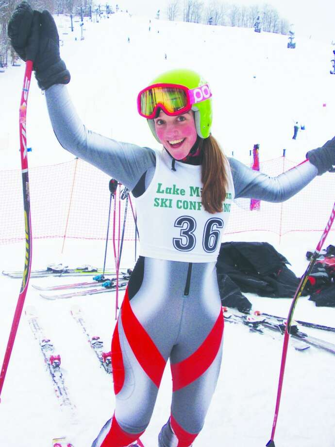 Going to Colorado: Morgan Papineau took part in a large event at Marquette, MI, qualifying to take part in the Rocky Central Championship Ski Race in Colorado. (Courtesy Photo)