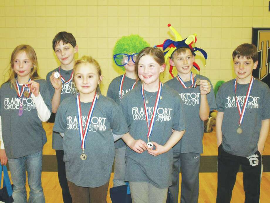 Om Team Winners: In the front row is fourth graders Sophie Prince and Ella Larsen. The back row is Ellie Noffsinger, Connor Lamerson, Quincy Thayer, Daniel Newbold and Seth Johnson. (Photo/Nicole Lamerson)