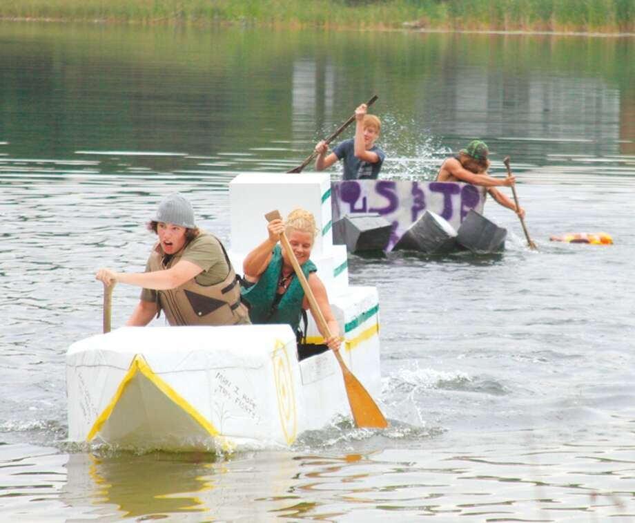 One of the more popular events at Brethren Days is the cardboard boat race on Lake Elinor. (Pioneer News Network file photos)