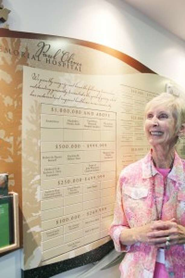 COMMUNITY DRIVEN: Susan Goff, president of the Paul Oliver Memorial Hospital Auxiliary, said the 60-year-old volunteer organization is 300 members strong and has raised more than $1.2 million to help support and improve the hospital. (Photo/Colin Merry)