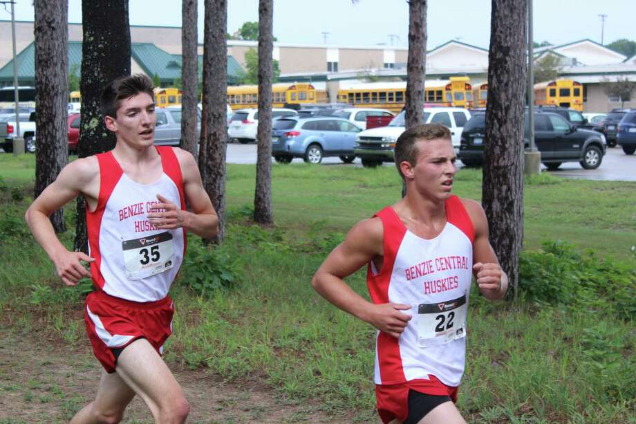 Benzie's Noah Bobotham and Jeffery Crouch finished back-to-back and only two seconds apart in Saturday's race. (Photo/Robert Myers)