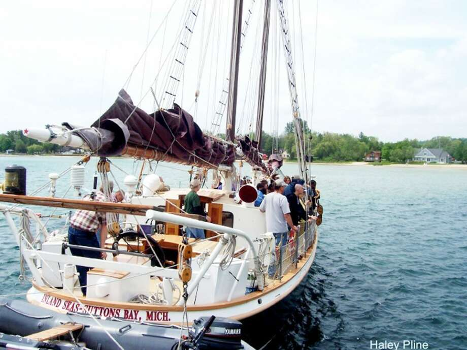 SAILING INTO LAKE MICHIGAN: The Inland Seas Education Association sails in Lake Michigan. The program has worked to help students from all over the Grand Traverse Area and beyond learn about Lake Michigan and about the art of sailing. (Courtesy photo)