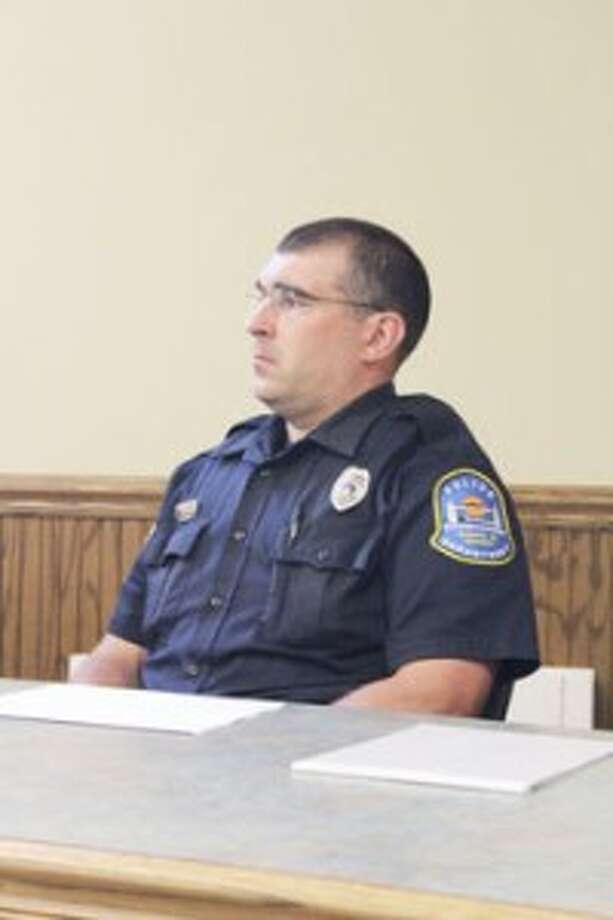 ACTING CHIEF: Officer Rob Lozowski is interim police chief for the Frankfort Police Department. (Photo/Colin Merry)