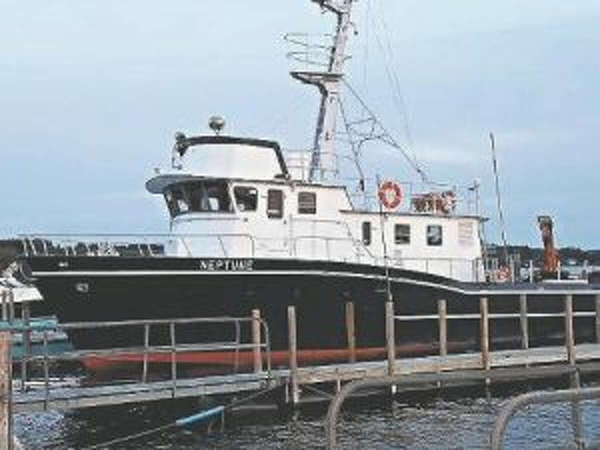 The Neptune was the ship used by a team of treasure hunters seeking Civil War gold during dives in Lake Michigan during several weeks of filming in Frankfort for a show which premiered on The History Channel. (File photo)