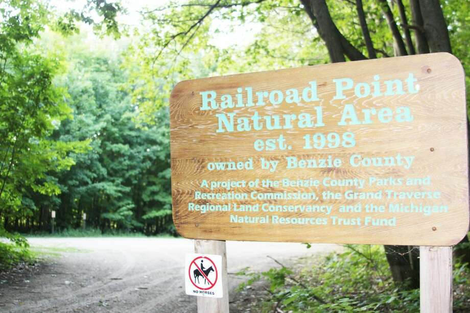 OPTIONS: The Benzie County Parks and Recreation Committee voted to work with the Department of Natural Resources and the Grand Traverse Regional Land Conservancy to begin looking at options for a permanent bathroom at the Railroad Point trailhead. (Photos/Colin Merry)