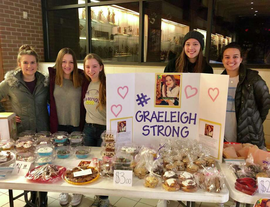 Frankfort NHS hold a bake sale to support an 11-year-old and her fight against cancer. (Courtesy photo)