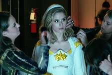 Erin Moriarty plays Annie January/Starlight in Amazon's The Boys, a series that critiques celebrity worship and obsession with fame.