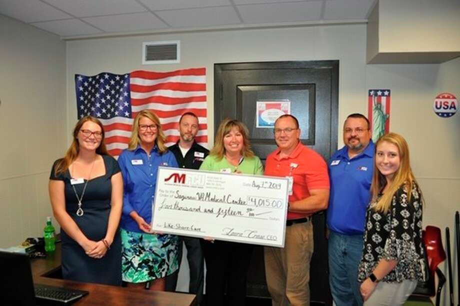 Saginaw Medical Federal Credit Union recently donated $4,015 to the Aleda E. Lutz VA Medical Center, which will be used to benefit local veterans in a variety of ways.(Photo provided)