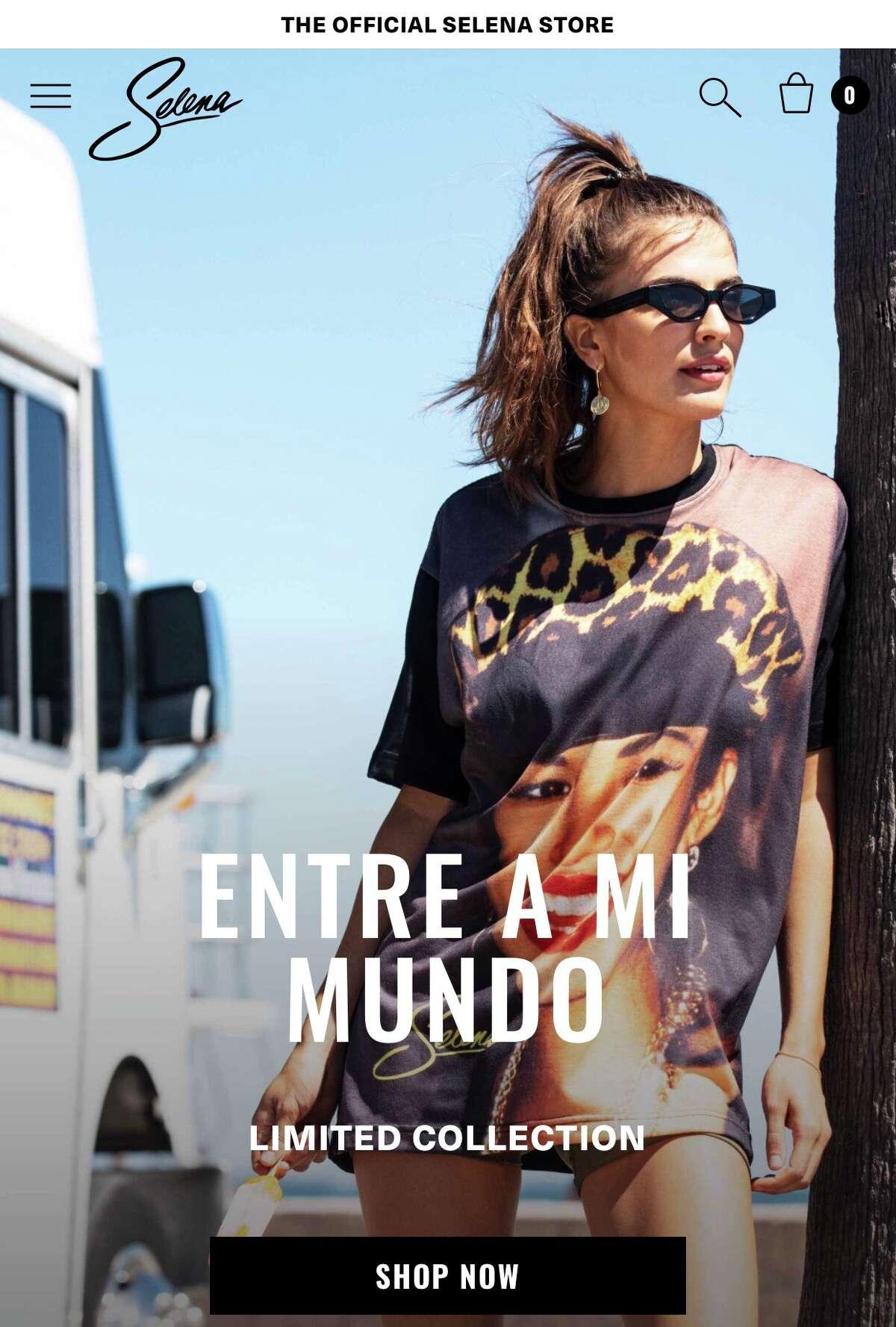 The new Selena Entre a Mi Mundo collection features a photo taken in Houston
