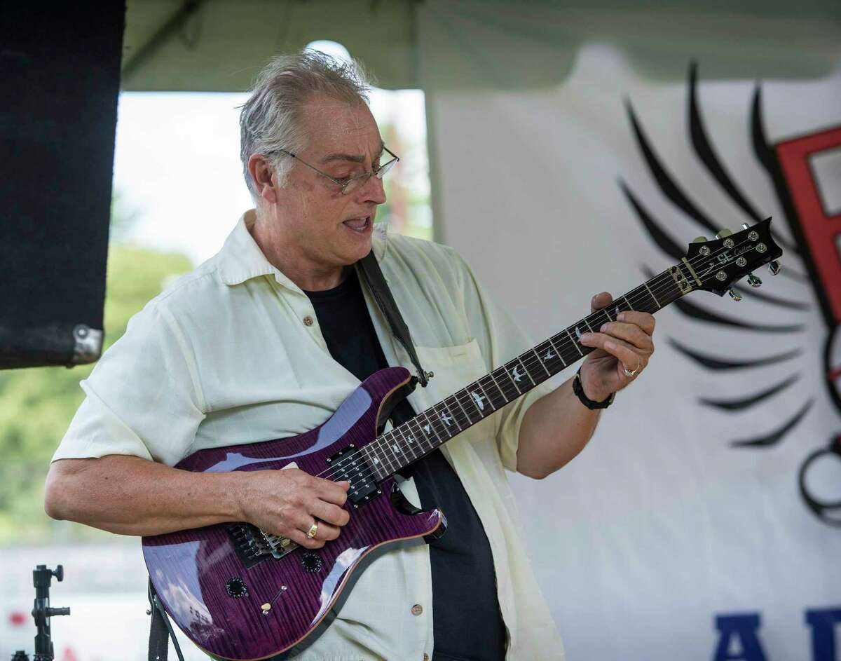 Arnold Stanio, guitarist with the Bernadettes plays a solo during a previous Rock the Valley festival in Ansonia.