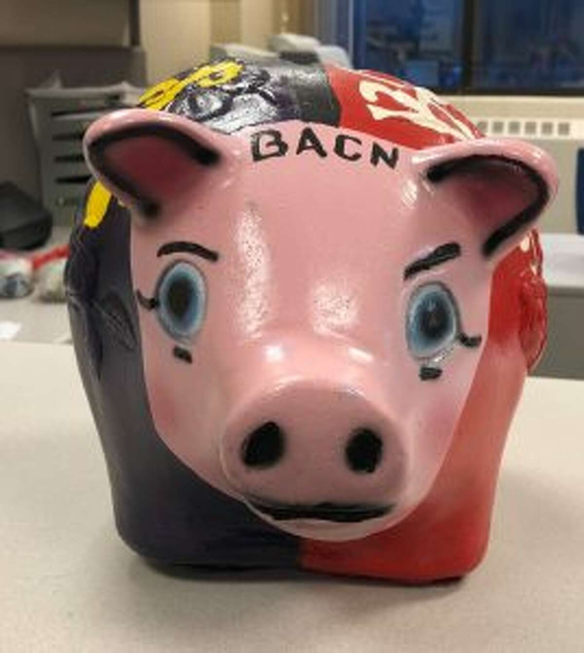This week, Benzie Central and Frankfort will be battling for the pig, which will be awarded to the whichever school collects the most donations to BACN. (Courtesy photo)