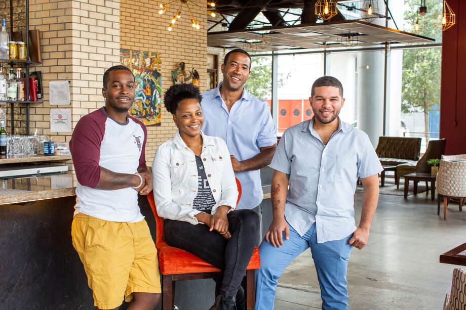 Four Houston chefs are collaborating on a dinner series aimed at bringing awareness to food deserts in Houston (areas where there is minimal access to fresh food markets or commercial grocery stores). The project is called Food Apartheid Dinner Series (FADS), and will kick off Sept. 4. Chefs include Dawn Burrell of Kulture, Jonny Rhodes of Indigo, Chris Williams of Lucille's and Dominick Lee of Poitin. Photo: Jenn Duncan