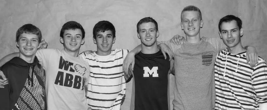 STATE FINAL-BOUND: The boys of the Frankfort Track team who qualified for Division 4 State Finals are (left to right) Ethan Mills, Brendon Kelly, Connor Bradley, Jacob Chappell, Ryan Plumstead and Casey McKinley. (Courtesy photo)