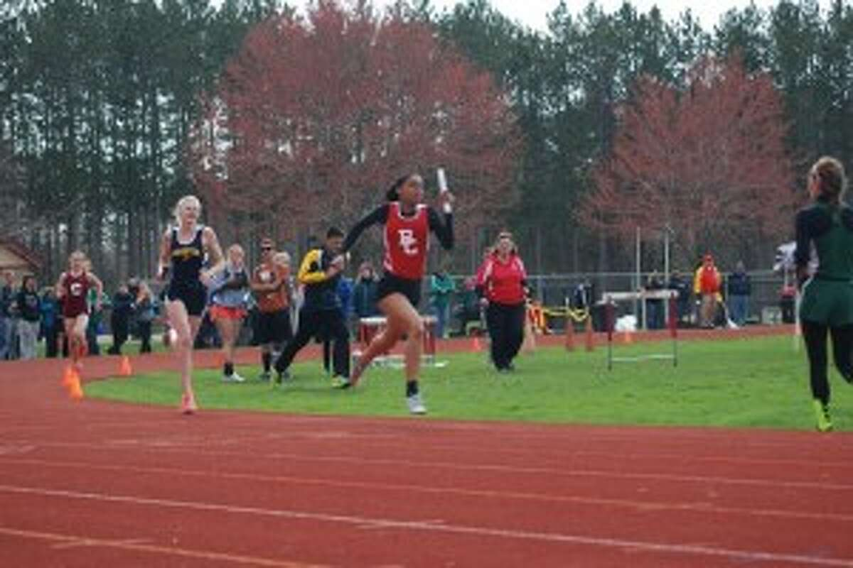 LEADING THE WAY: Benzie Central senior Alikay Hamilton anchored the 1600 relay, helping the girls clinch their seventh straight regional title. (Courtesy Photos)