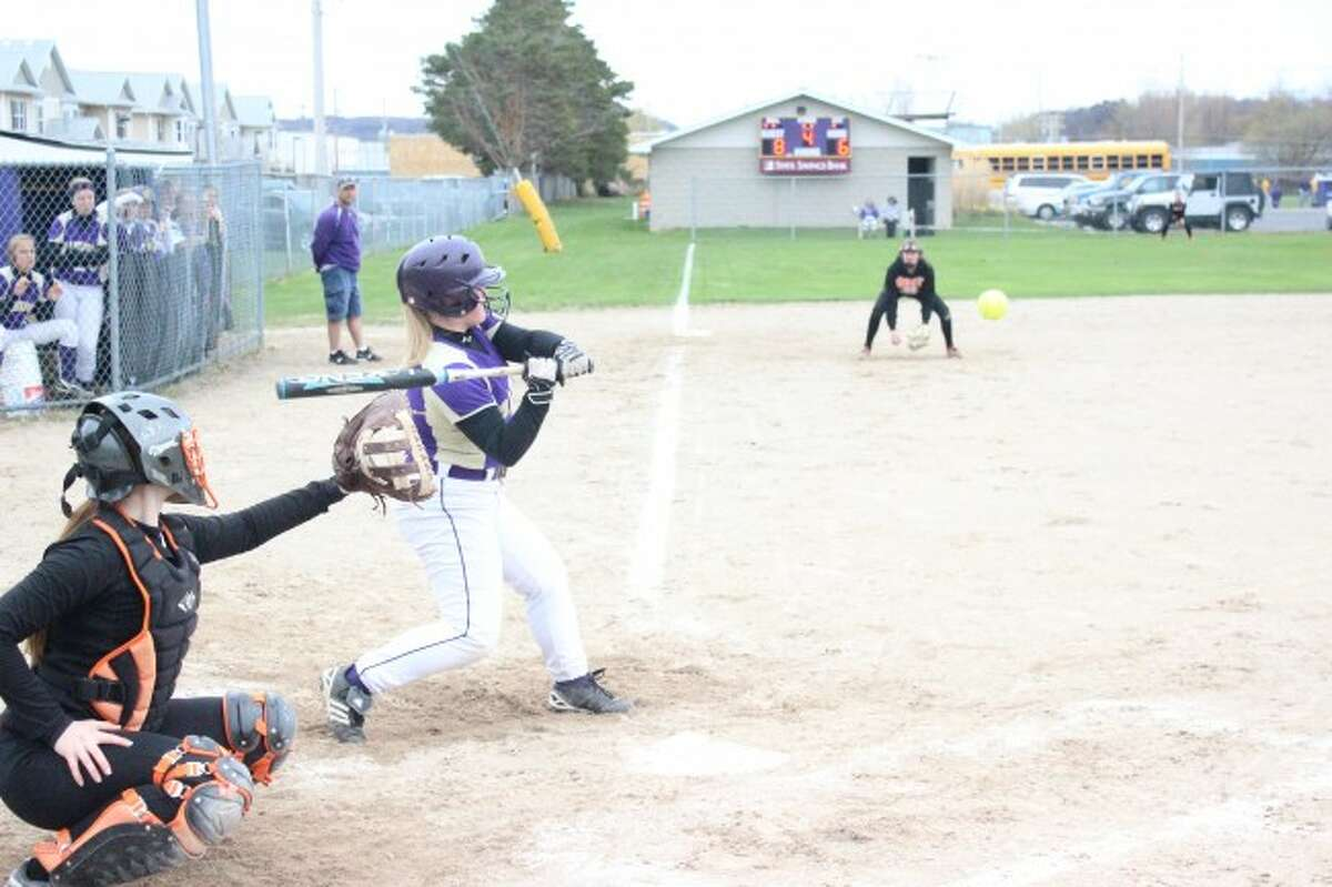 FRANKFORT BATS: Softball player Andrea Willsey watches the pitch come in during an up-to-bat. The Panther hitters have been a big part of their recent success, scoring big runs in multiple games.