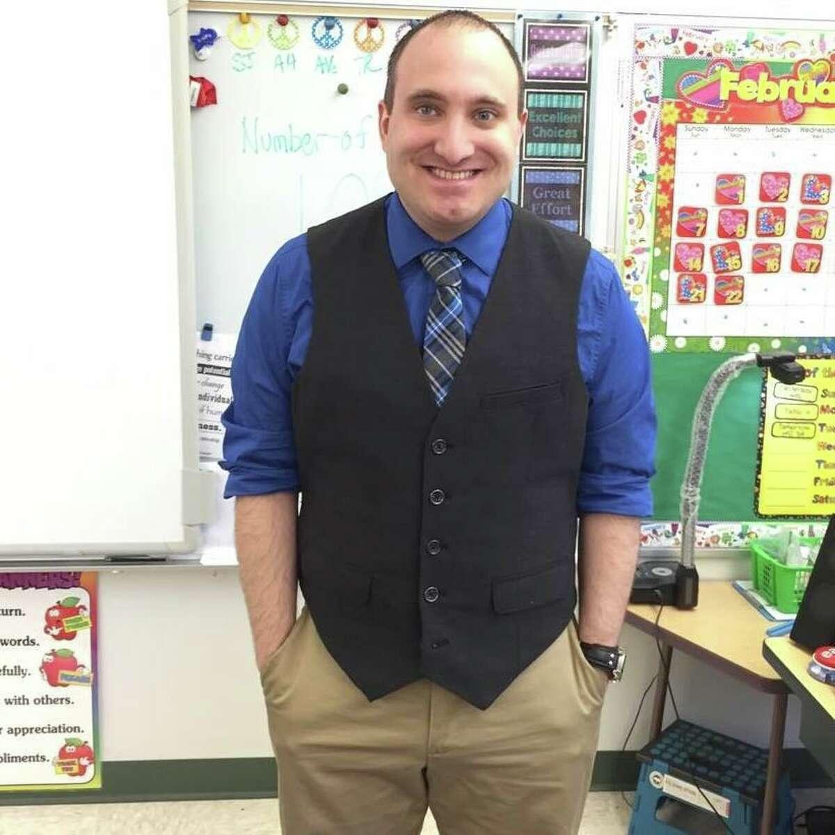 Matthew Calvanese, a fourth-grade math teacher at the Academy of International Studies, was named Danbury Public Schools' 2019-20 Teacher of the Year.