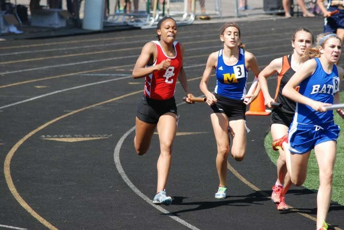 STRONG LEADER: Benzie Central All State senior Alikay Hamilton was an anchor for the 1600 relay team during the state finals meet last weekend. (Courtesy Photos)