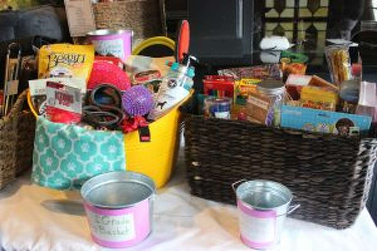 Each class at Frankfort put together a themed basket to be raffled off at Spring Fling. (Photo/Robert Myers)