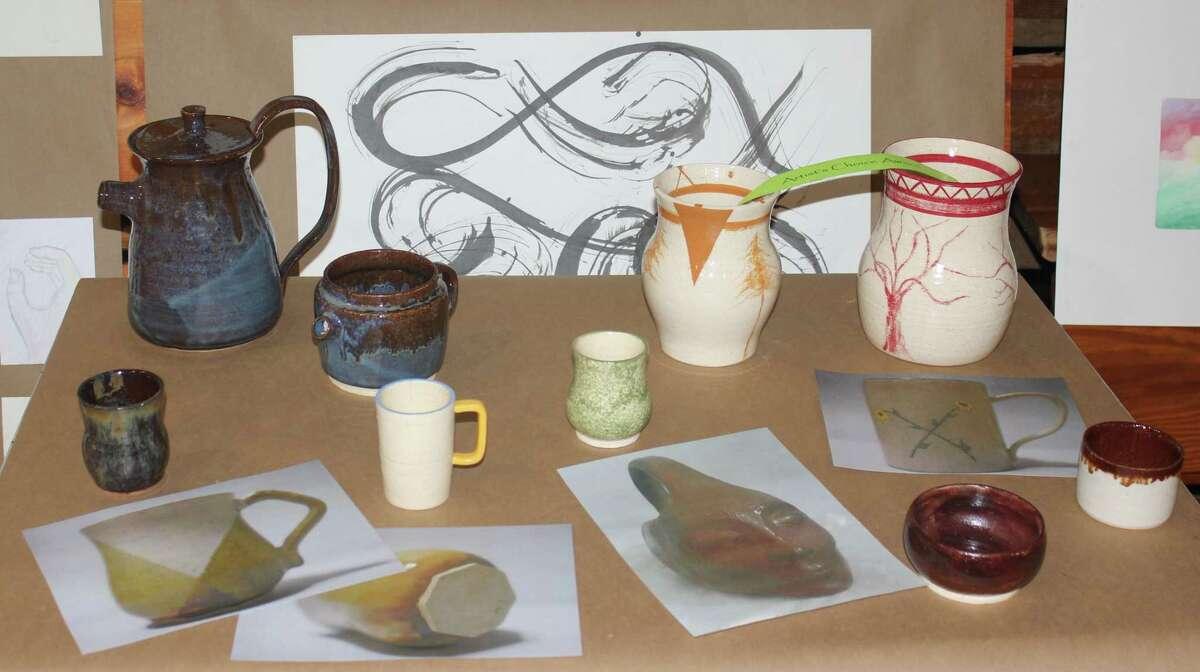 Frankfort's Extravaganza featured a number of unique ceramics creations.