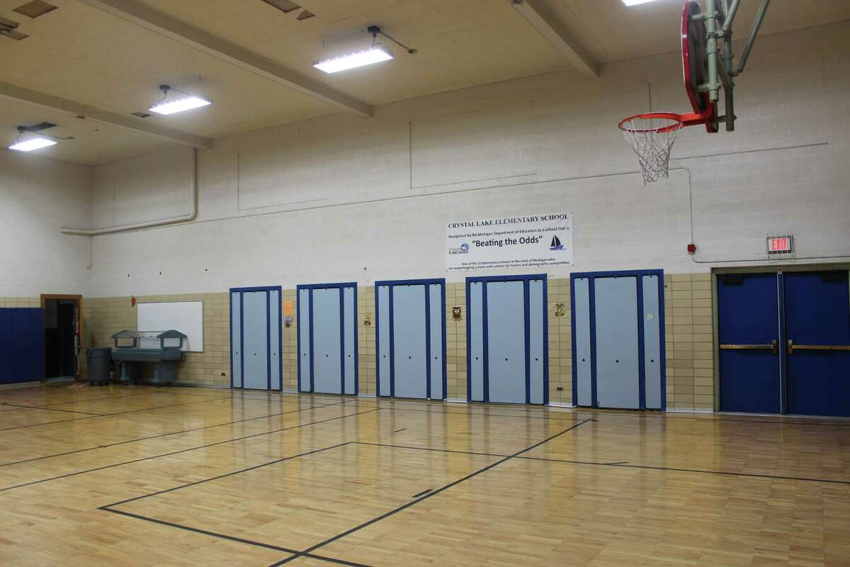 Having a shared cafeteria and gym space creates scheduling difficulties for Crystal Lake Elementary. (Photo/Robert Myers)