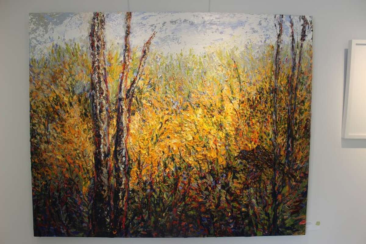 """FEATURED WORKS: Another featured artist that will be seen at the Live For Art Gallery throughout the summer is Janet Grissom. This work by her is titled """"Meadow with Gold."""""""