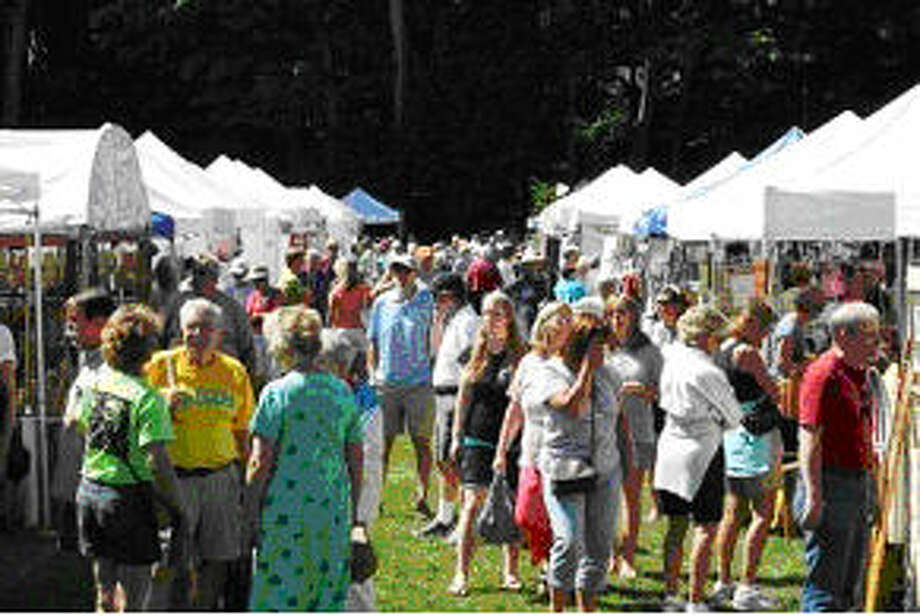 CROWDED BOOTHS: More than 100 artists set up shop for the CSA Craft Fair each year, offering visitors everything from jewelry to paintings and decorations. (Courtesy Photo)