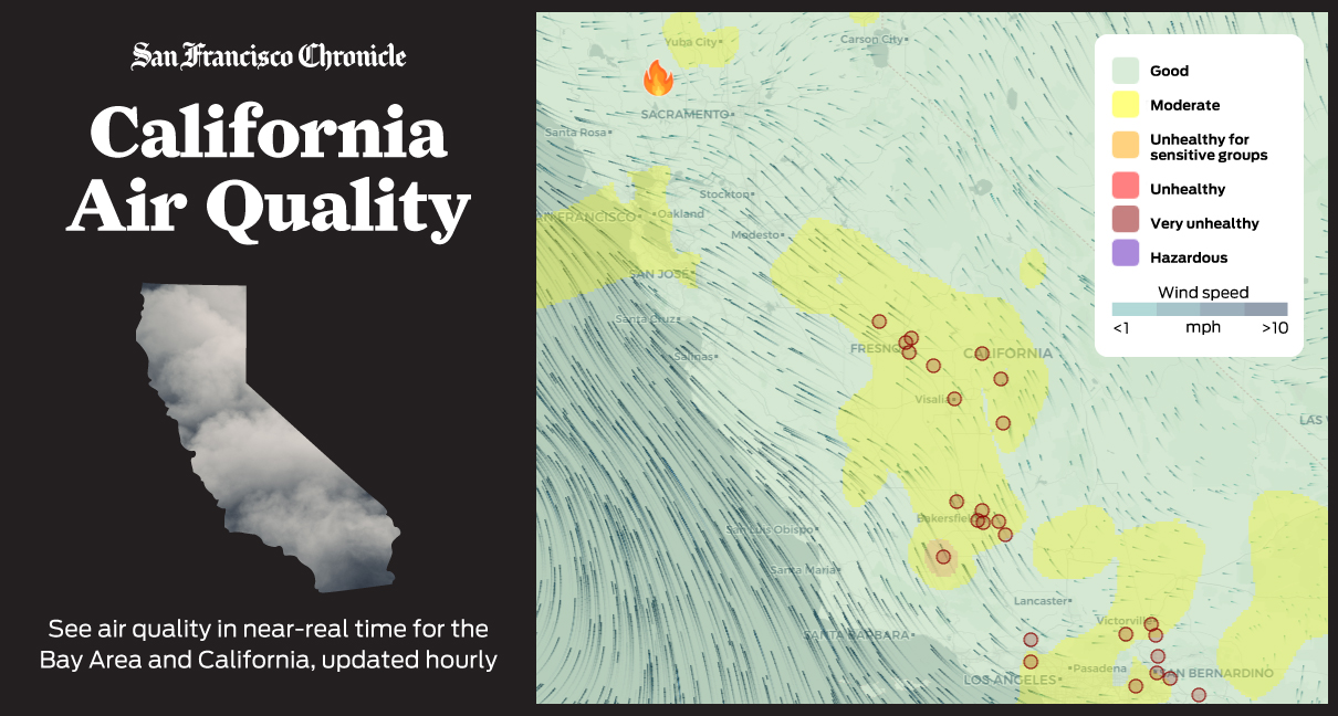 California Air Quality Map: See ratings in your area in near ... on