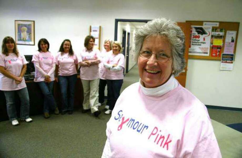 Seymour Pink founder Mary Deming, front Photo: Hearst Connecticut Media File