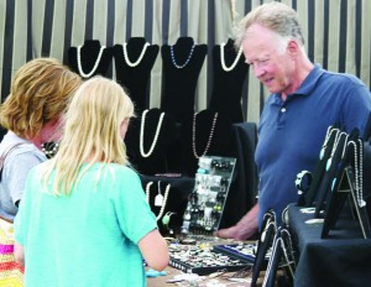 WE LIKE THESE: Richard Bayer is a long time jewelry maker. The former mayor of Frankfort has won a number of awards for his jewelry including the People's Choice Award at the Brighton Art Fair.