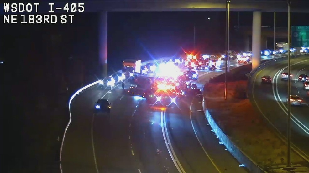 Woman killed in wrong-way crash on I-405 in Bothell