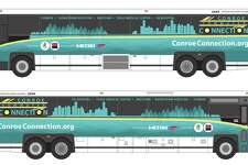 The Conroe Commuter Connection buses are getting a new look for the route 291, which transports residents from Conroe to various locations around downtown Houston.
