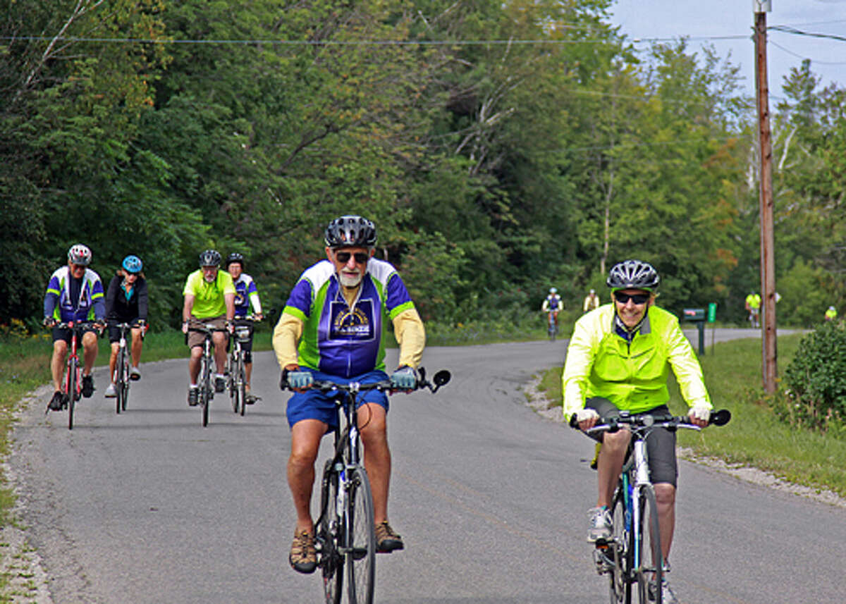 MOVING RIGHT ALONG: the 25 and 45 mile riders in the Bike Benzie Tour also said they enjoyed scenic routes.