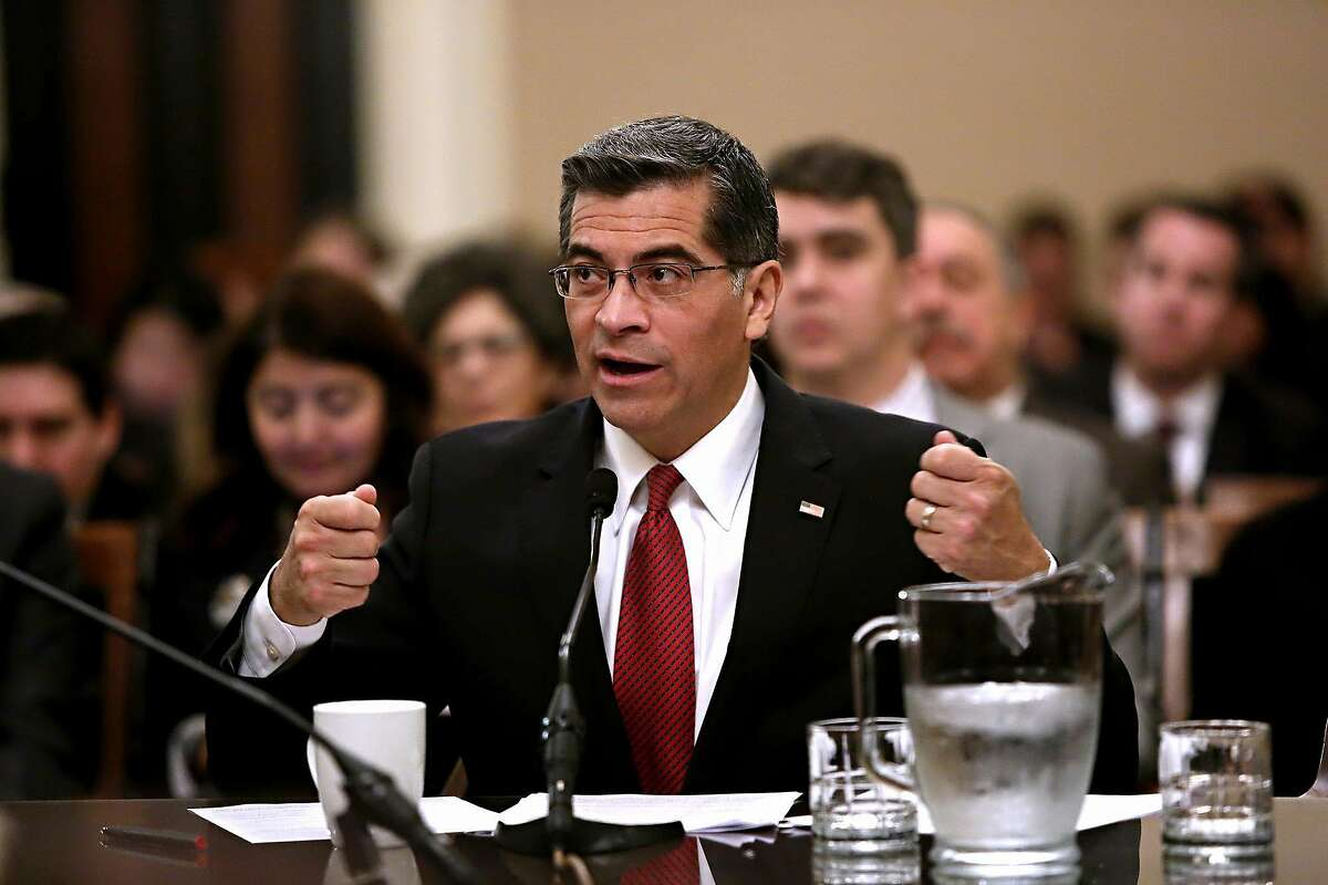 California Attorney General Xavier Becerra in Sacramento, Calif., in January 2017. Saying the U.S. opioid epidemic is