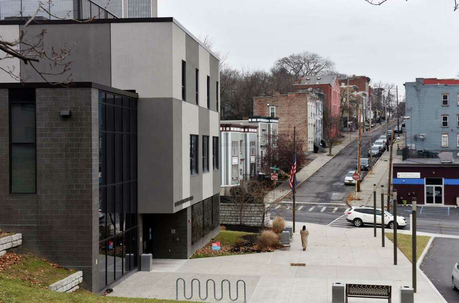 A view up Philip Street from the Capital South Campus Center on Warren Street in Albany, N.Y. (Will Waldron/Times Union) Photo: Will Waldron, Albany Times Union