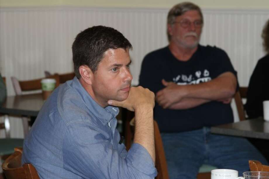 Lon Johnson meets with voters in Frankfort - Benzie Record Patriot