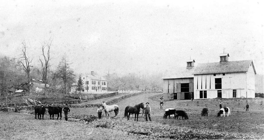 """The Sherman Library is presenting an exhibit of photographs and ceramics depicting how people lived in Sherman from 1850-1890s through Aug. 28. Gloria Thorne curated the display from the photographic collection of the historical society, while Paul Fortenberry created jugs, urns, pitchers, and water pots like those used in the day. Above is Mallory Farm in Sherman. If you have a """"Way Back When"""" photograph you'd like to share, contact Deborah Rose at drose@newstimes.com or 860-355-7324. Photo: Courtesy Of Sherman Historical Society / The News-Times Contributed"""