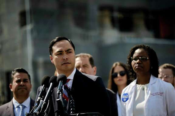 Rep. Joaquin Castro speaks during a June 12 news conference in Washington, D.C., about concerns over the conditions of Customs and Border Protection detention facilities at the border.
