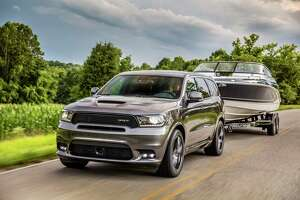 Dodge said the 2019 Dodge Durango SRT's 475-horsepower 6.4-liter Hemi V8 can power the SUV to 60 mph in 4.4 seconds. On the practical side, it's also rated to tow up to 8,700 lbs.