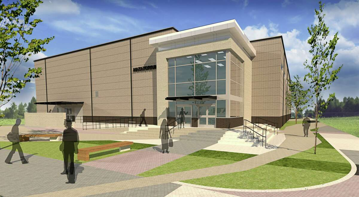 Shown here is an artist's rending of the natatorium in Katy ISD's Jordan High School.