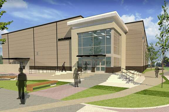 Shown here is an artist's rending of the natatorium in Katy ISD'sHigh School No. 9.